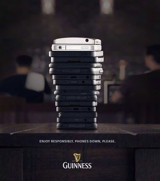 Font - ENJOY RESPONSIBLY. PHONES DOWN, PLEASE GUINNESS
