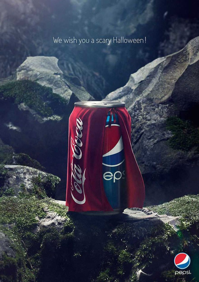 Beverage can - We wish you a scary Halloween! ер рepsi.