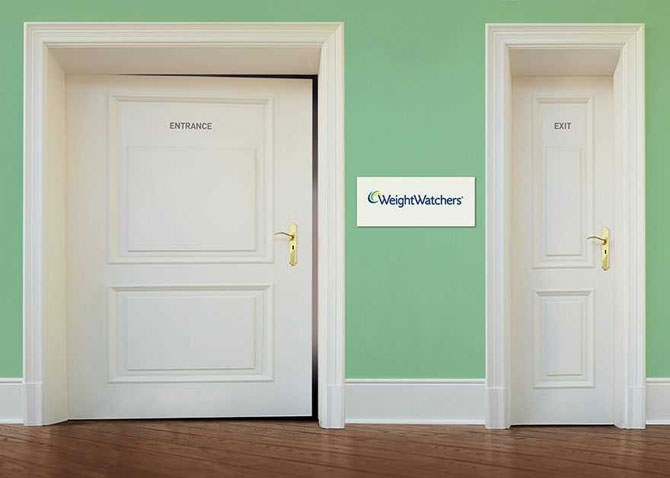 Door - ENTRANCE EXIT CWeightWatchers
