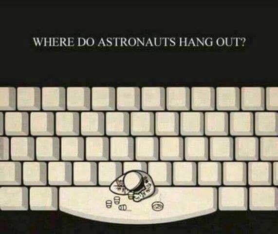 pun - Space bar - WHERE DO ASTRONAUTS HANG OUT?