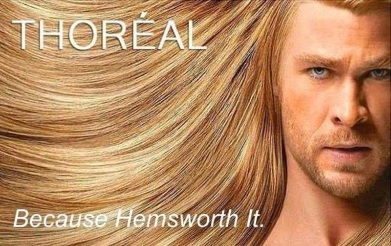 pun - Hair - THOREAL Because Hemsworth It.