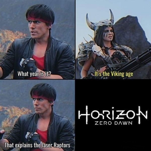 horizon zero dawn meme its the viking age