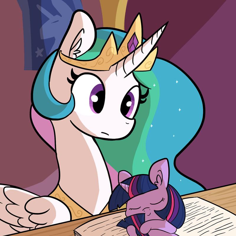 tj pones twilight sparkle princess celestia acting like animals - 9112125440
