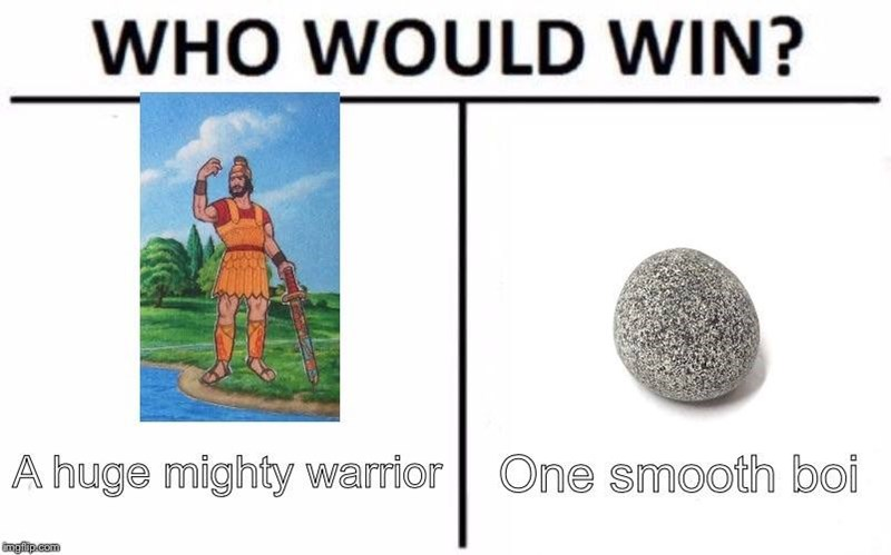 meme - Text - WHO WOULD WIN? A huge mighty warior | One smooth boi imgip com