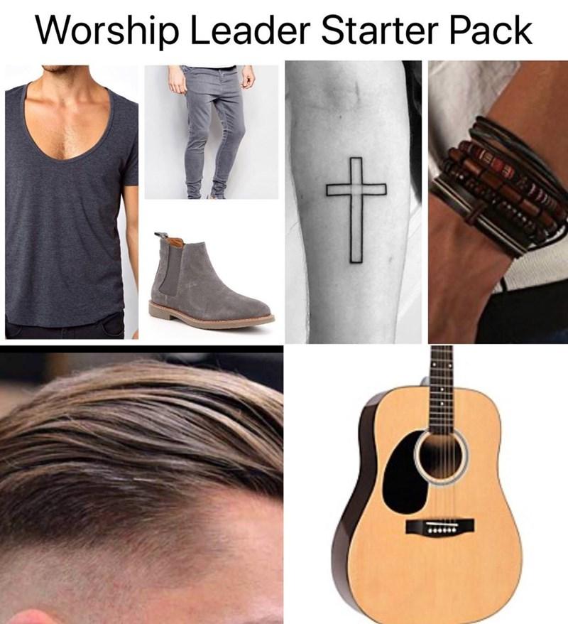 meme - Guitar - Worship Leader Starter Pack