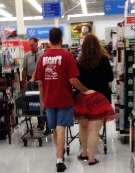 man and woman walking in walmart man has hand down woman's pants people of walmart memes