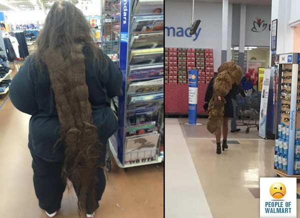 person with matted dreadlock past their knees people of walmart memes