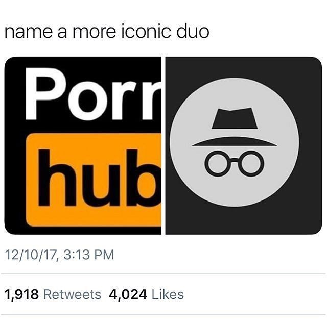 Text - name a more iconic duo Porr hub 12/10/17, 3:13 PM 1,918 Retweets 4,024 Likes