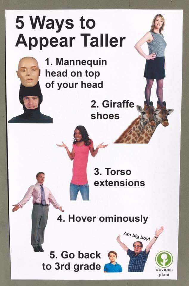 5 ways to appear taller meme