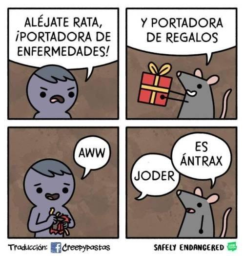 alejate rata portadora de enfermedades tengo antrax
