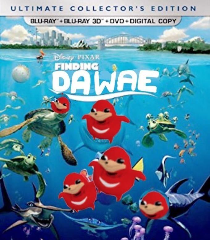 Ugandan Knuckles - Animated cartoon - ULTIMATE COLLECTOR S EDITION BLU-RAY BLU-RAY 3D +DVD+DIGITAL COPY DENPIXAR FINDING DAWAE