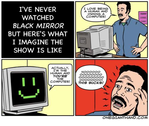funny 4 panel webcomic meme about black mirror