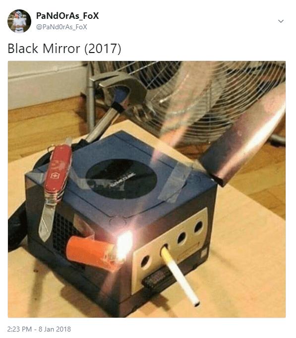 smoking box joked as next Black Mirror