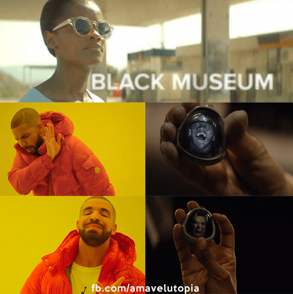 Black mirror meme about certain racial stereotypes in the show