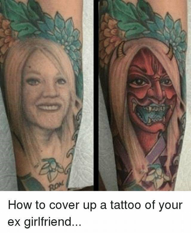 Tattoo - ROM How to cover up a tattoo of your ex girlfriend...