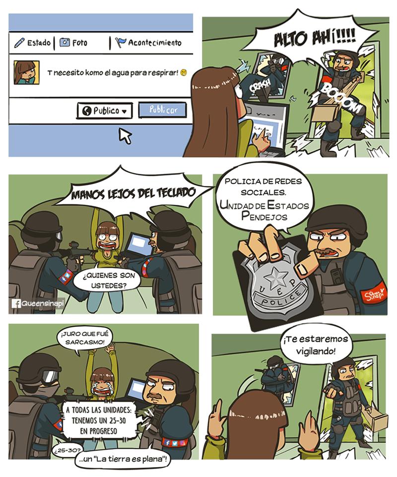 policia de datos de internet un comic de thequeensinapi