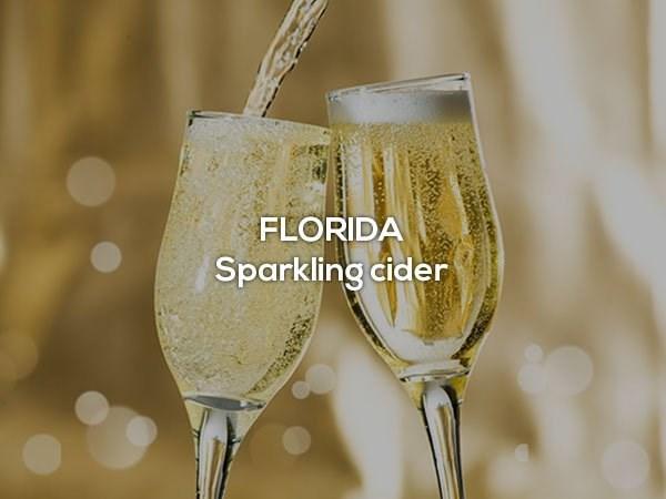 Champagne stemware - FLORIDA Sparkling cider