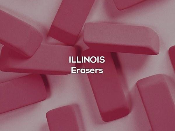 Pink - ILLINOIS Erasers
