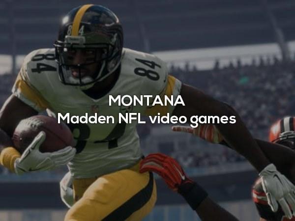 Sports gear - MONTANA Madden NFL video games