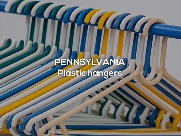 Clothes hanger - PENNSYLVANIA Plastic hangers