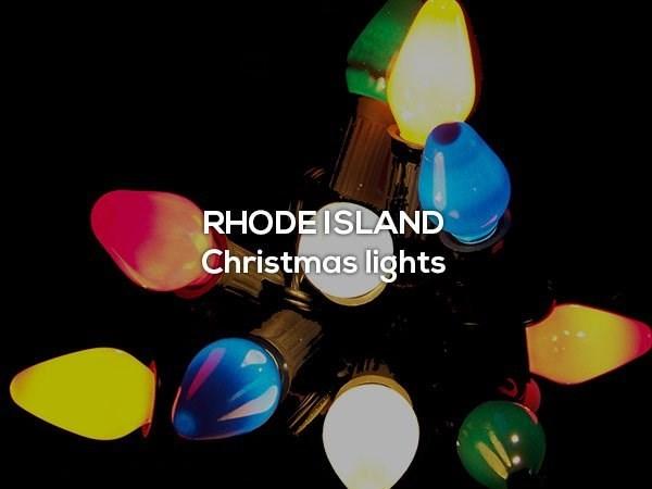 Font - RHODEISLAND Christmas lights