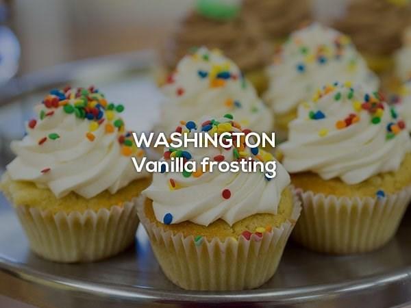 Food - WASHINGTON Vanilla frosting