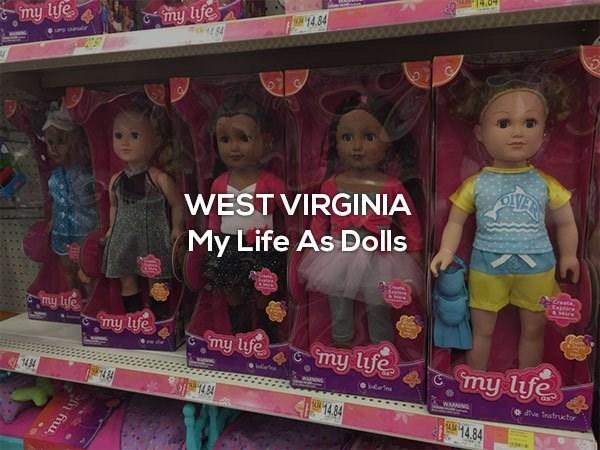 Doll - my life 84 14.84 my life OVE WEST VIRGINIA My Life As Dolls Sesta Krest Esplaee &Sre my life my lfe my life my life my life 1484 WnNG Gdeine 14 8 WANING o ve nstructor 14.84