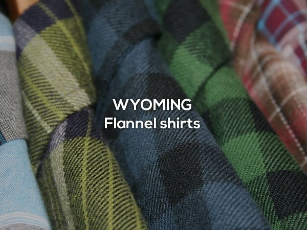 Green - WYOMING Flannel shirts