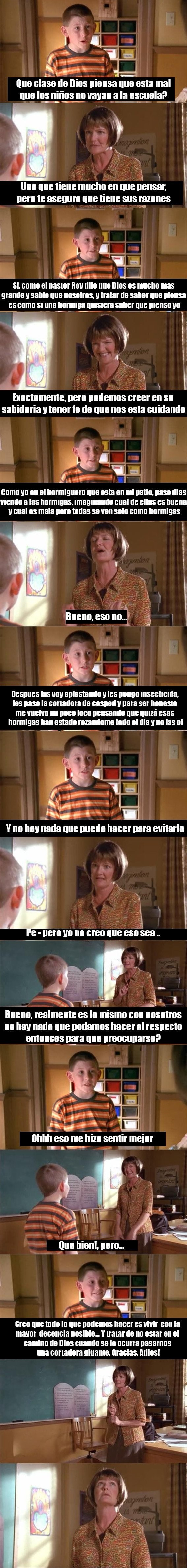 Dewey de malcolm in the middle analiza lo que es ser dios