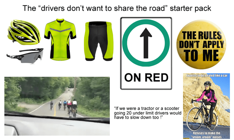 starter pack for people who ride bicycles