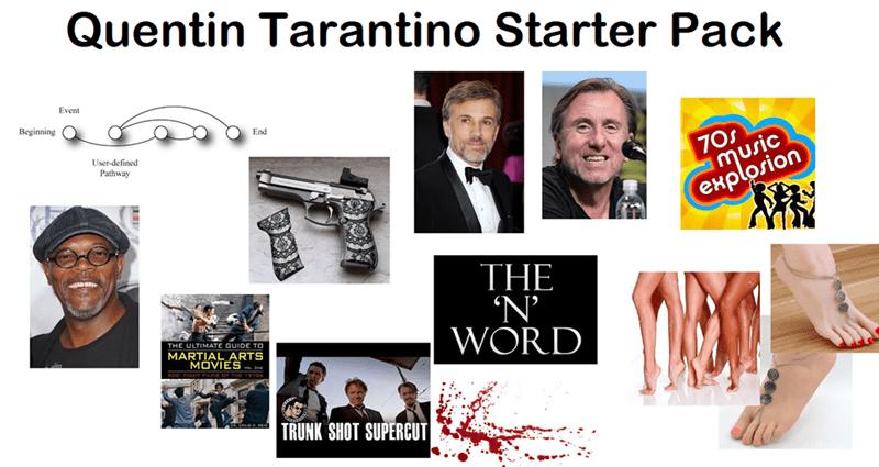 starter pack for quentin tarantino