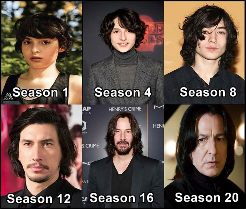 mikes stranger things evolution trough seasons