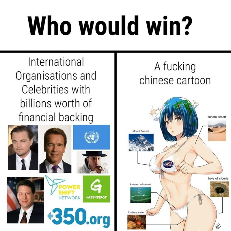 who would wil science vs earth chan
