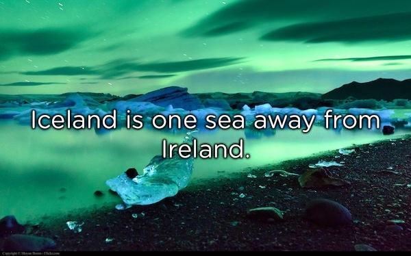 Water - Iceland is one sea away from Ireland. dm CopghMa