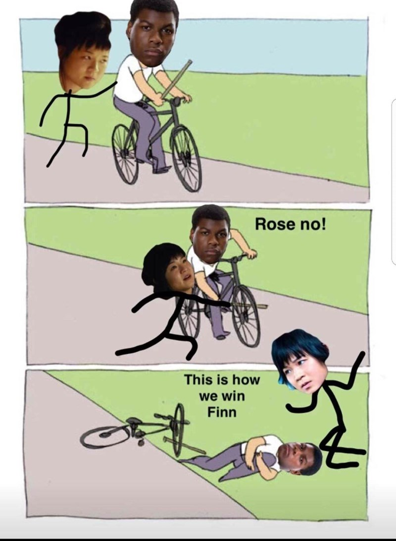Cartoon - Rose no! This is how we win Finn