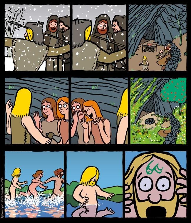 broma prehistorica de dibujar un pene