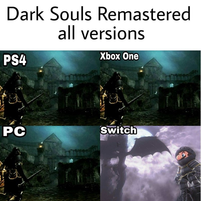 dark souls remastered all versions switch