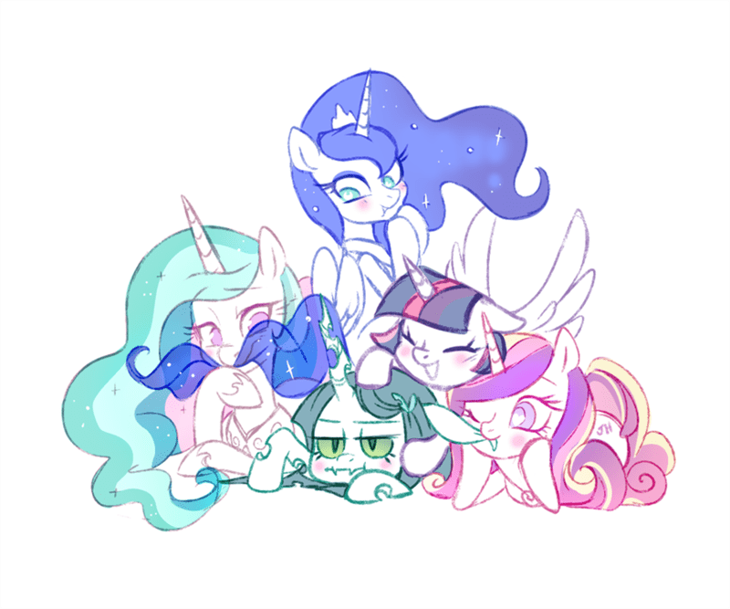 princess cadence twilight sparkle jumblehorse princess luna chrysalis princess celestia changelings - 9114791680