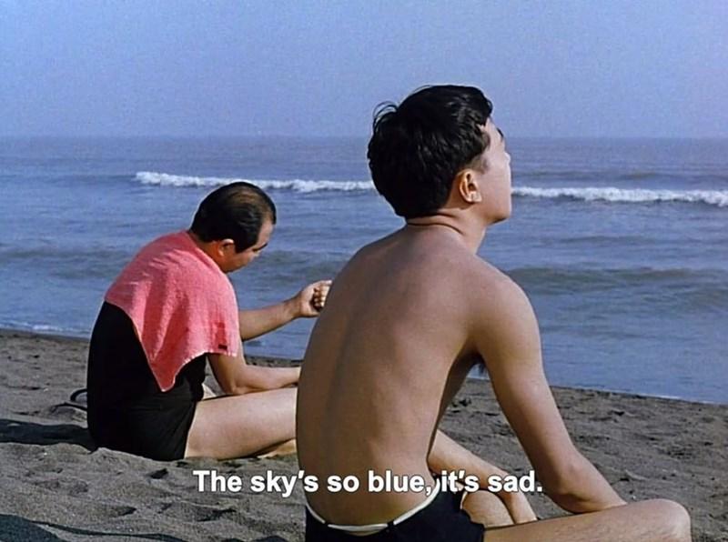 Vacation - The sky's so blue it's sad.