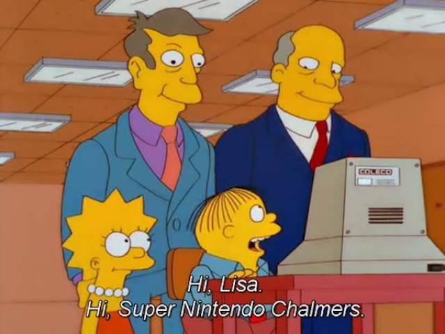 simpsons ralph - Cartoon - COLECO Hi, LIsa Hi, Super Nintendo Chalmers.