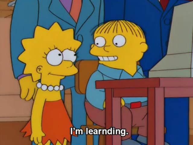 simpsons ralph - Animated cartoon - i'm learnding.