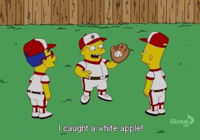 simpsons ralph - Cartoon - Global HD I caught a white apple!