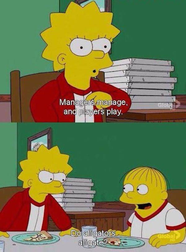 simpsons ralph - Cartoon - Managersmanage. and players play. Glot Do alligators alligate? Global