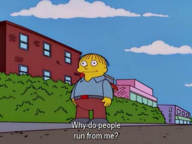 simpsons ralph - Cartoon - DO0 Why do people run from me? JOU