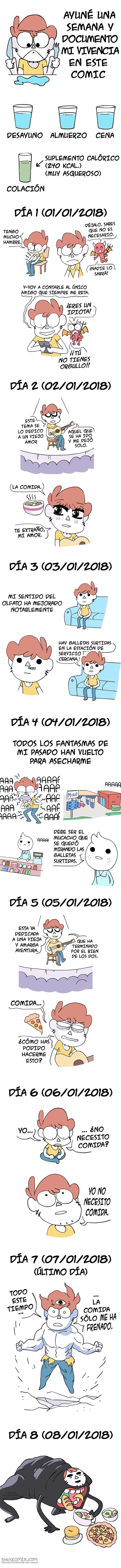 en un comic se relata la dieta durante toda una semana