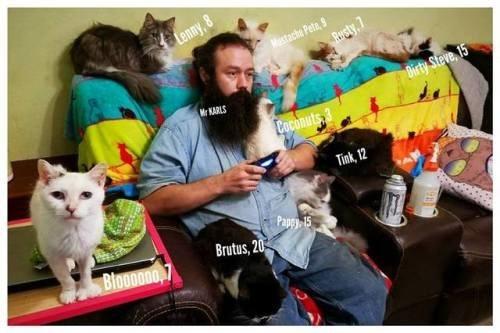 Cat - Lenny,8 Mestache Peta, Rusty,7 Mr KARLS Dirty Steve, 15 Coconuts 3 Tink, 12 Papcy 15 Bloooooo Brutus, 20