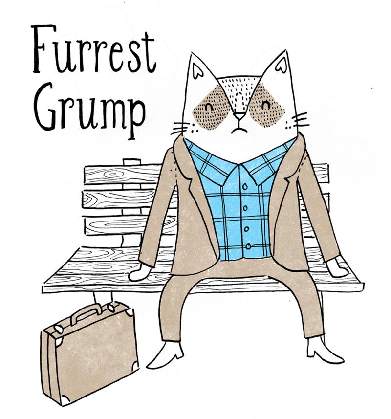 Cartoon - Furrest Grump