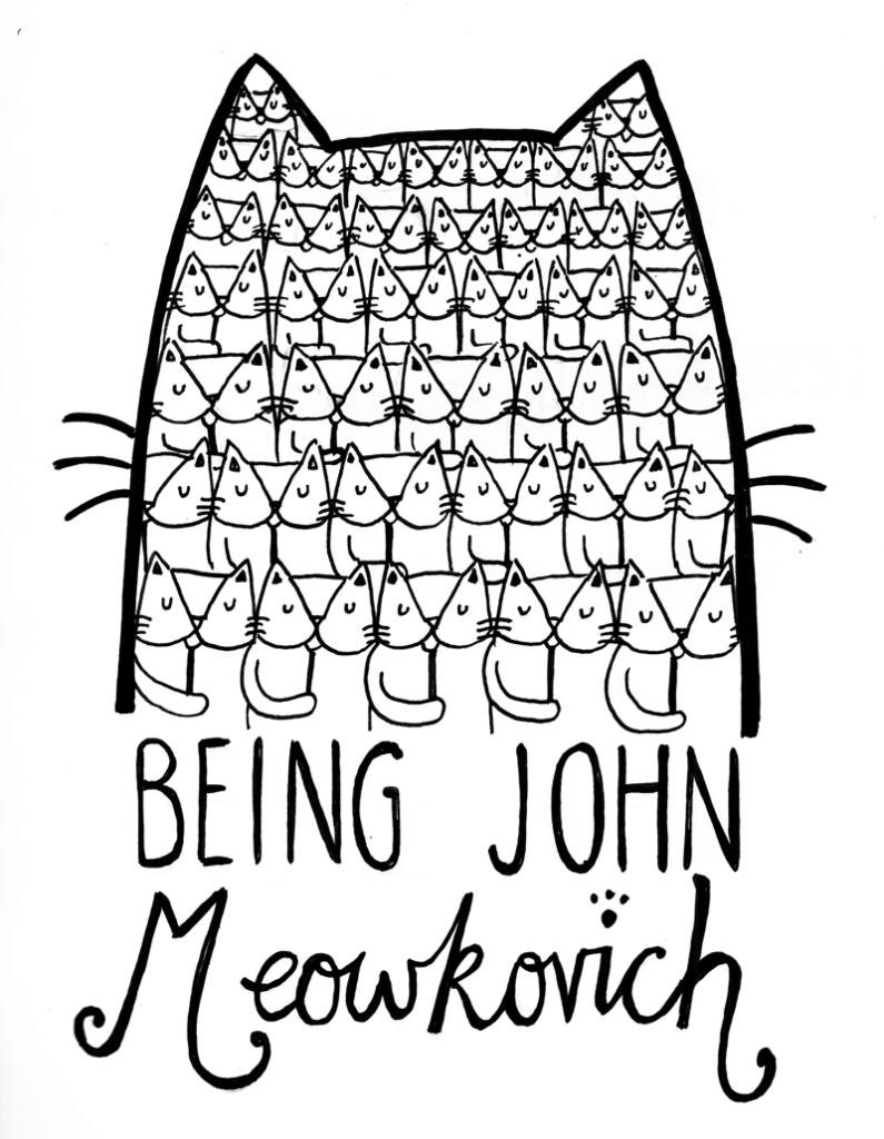 Line art - BEING JOHN Mewkorich