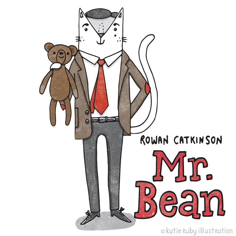 Cartoon - KOWAN CATKINSON Mr. Bean okatie Ruby ill ust Ration