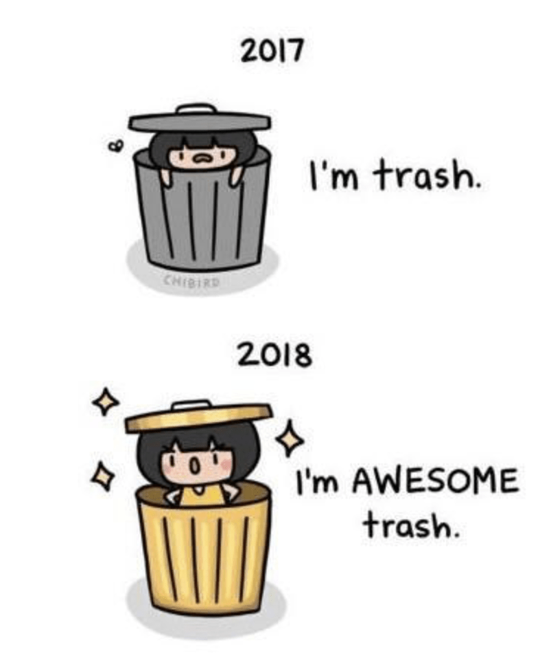 Waste container - 2017 I'm trash. CHISIRD 2018 I'm AWESOME trash.